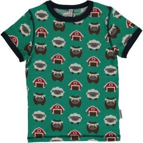 Maxomorra Farm -T-shirt kortärmad 98-140cl - T-shirt kortärmad farm 110/116cl