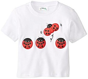 2-pack Kortärmad T-shirt Nyckelpiga - 3-4år - T-shirt nyckepiga 2-pack