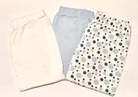 Byxor med muddar 3-pack Blå bubblor/Ljusblå/Vit