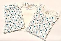 Klädpaket - Byxor, Bodys Kort+Långärm Blå bubblor
