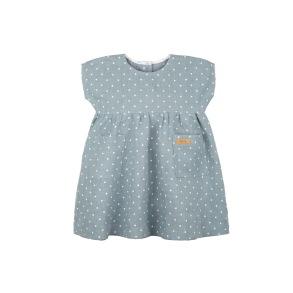 Barnklänning mint med vita prickar 86-104cl - Barnklänning mint 86cl