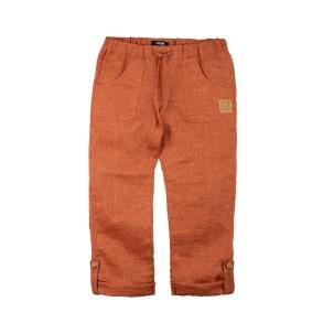 Byxor linne dusty orange 98-122cl - Byxor dusty orange 98cl