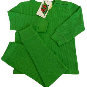 Myskläder - Våfflad bomull - Emerald green -3år-Medium - Myskläder emerald green 3-4år