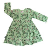 Babyklänning Fåglar - 3-12mån