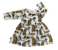 Babyklänning - Leopard 3-12mån