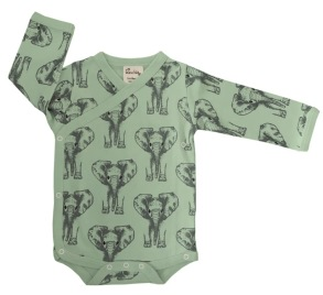 Omlottbody baby - Elefanter 0-12mån - Omlottbody elefanter 0-3mån