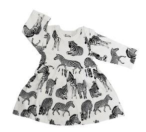 Babyklänning Zebra - 3-12mån - Babyklänning Zebra 3-6mån
