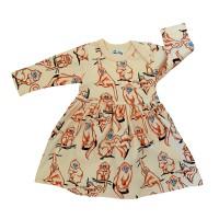 Barnklänning Apor - 1-6år