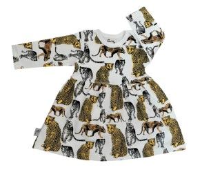Babyklänning - Leopard 3-12mån - Babyklänning leopard  3-6mån