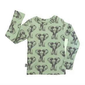 Barntröja med långärm - Elefanter 1-8år - Barntröja elefanter 1-2år