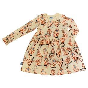 Barnklänning långärmad- Apor - 1-6år - Barnklänning apor 1-2år