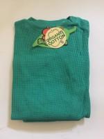 Myskläder - Våfflad bomull -djungle green -3år-Medium