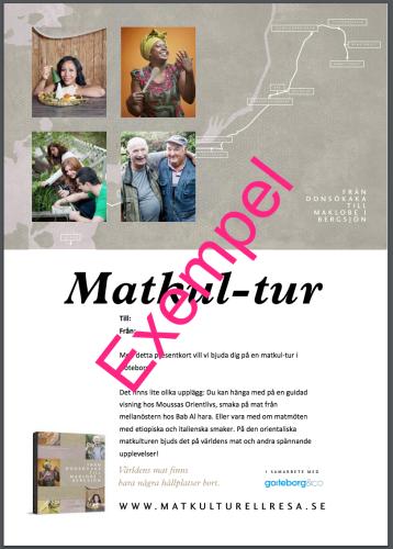 Matkul-tur med Anna o cateringguiden i Göteborg