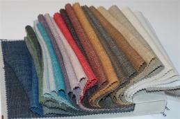 Enfärgade möbeltyger i 100% eko linne
