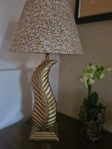 Lampa löv mässing -