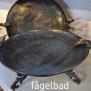 Fat/Fågelbad Rustik guld.brun
