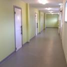 Korridor utanför omklädningsrum efter ombyggnad
