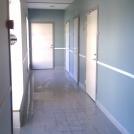 Korridor i simhallen efter ombyggnad