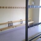 Omklädningsrum före ombyggnad