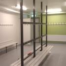 Omklädningsrum efter ombyggnad