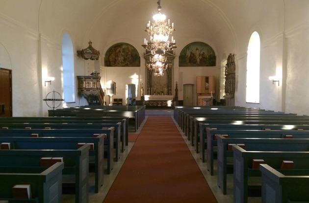 Ovanåkers kyrka efter restaurering