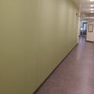 Dekorvägg i korridor