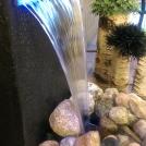 Belysning i fontänen.