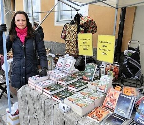 Pia F Davidson på Enköpings vårmarknad i april -17.