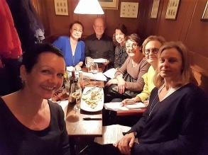 Planering inför 2018 med LiseLotte Divelli, Pia F Davidson. Staffan Öberg, Anna Norlin, Birgitta Andersson Backlund, Lotta Henrikson och Ulla Nissen.