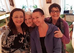 Kurs i PowerPoint med Pia F Davidson, Lill Viljesten, LiseLotte Divelli och Birgita Andersson Backlund.