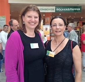 Simona Ahrnstedt och Pia F Davidson  på Järfälladagarna -14