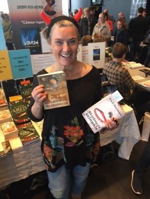 Anita Santesson på Litteraturmässan i Kulturhuset Stockholm.