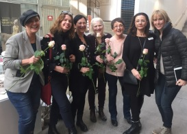 Anita Santesson, Anna Norlin, Aliya Dahlgren, Lill Viljesten, Birgitta Andersson Backlund, Pia F Davidson och Ylva Wegler i Söderhallarna den 23/3-18.