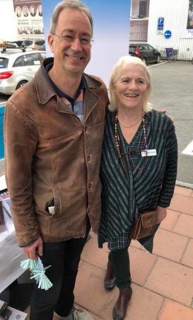 Klas Berggren och Lill Viljesten på Författarafton på Ica Stop i Täby den 5/9-18