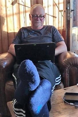 Johan Smedberg i skrivartagen.