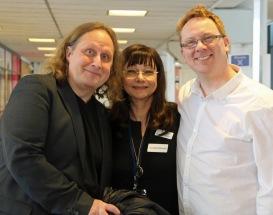 PeKå Englund, Pia F Davidson och Lennart Guldbrandsson på Litteraturkryssningen-19.