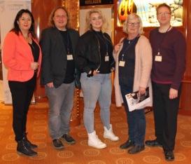 Anna Jansson, Pekå Englund, Xandra Matson, Gärd Fors och Lennart Guldbrandsson, Birka-19.