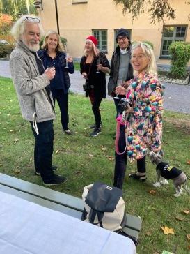 Ragnar Alströmer, Eva Jacobson, Carina Aynsley, Tommy Karman och Carina Cefa Öhrlund på Långholmen i sept-20.