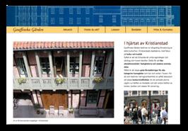 Webbsida för Gauffinska Gården
