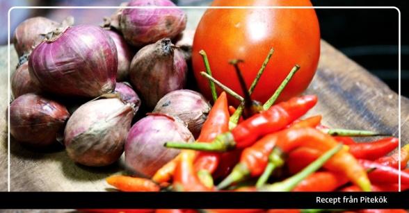 Recept från Pitekök: Marinerade tomater med chili & vitlök