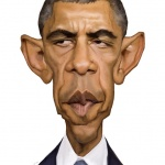 Barack Obama caricature web