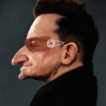 Bono caricature web