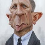 Daniel Craig caricature web