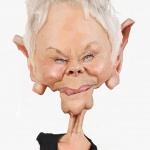 Judy Dench caricature web