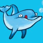 Ny Delfin cyan bubblor