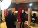 Thorsten under inspelningen av reklamen för nya skivan som börjar sändas på TV4 inom kort