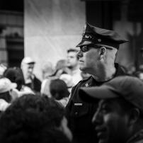 Polis vid påvebesöket
