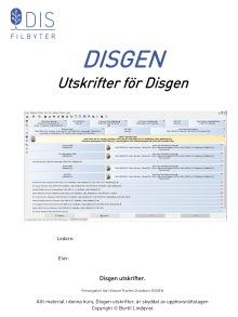 Utskrifter för Disgen