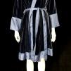 Lydia Sammet Kimono - Lydia kimono sammet blå L