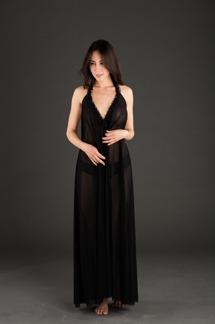 Anna Mesh Nattlinne - Anna nattlinne svart M